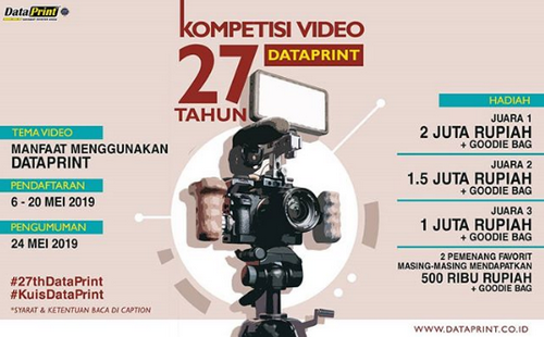 Lomba Video 27 Tahun Data Print Berhadiah Juataan Rupiah