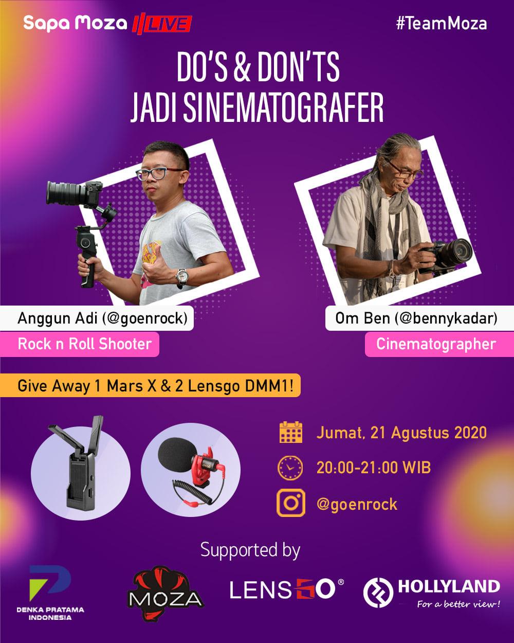 Do's and Don'ts Jadi Sinematografer